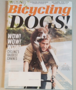 BICYCLING MAGAZINE DOGS