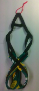 Packers on Black Recreational Sled Dog Harness